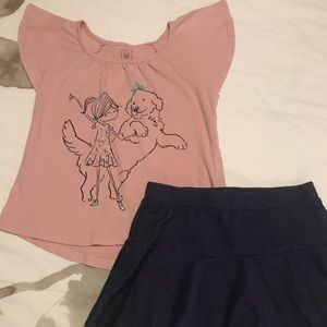 Gap top and skirt